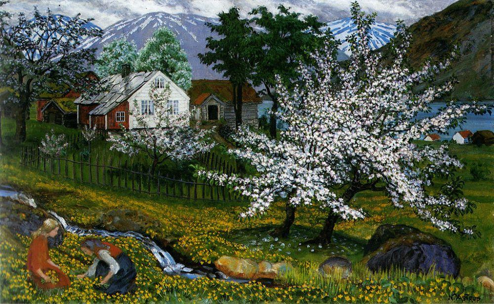 Nikolai Astrup Apple trees in bloom
