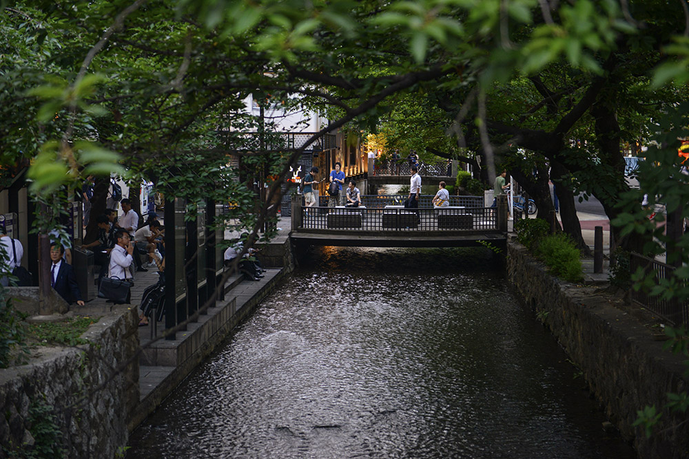 Pontochō, Takase-kanalen, Kyoto, Japan