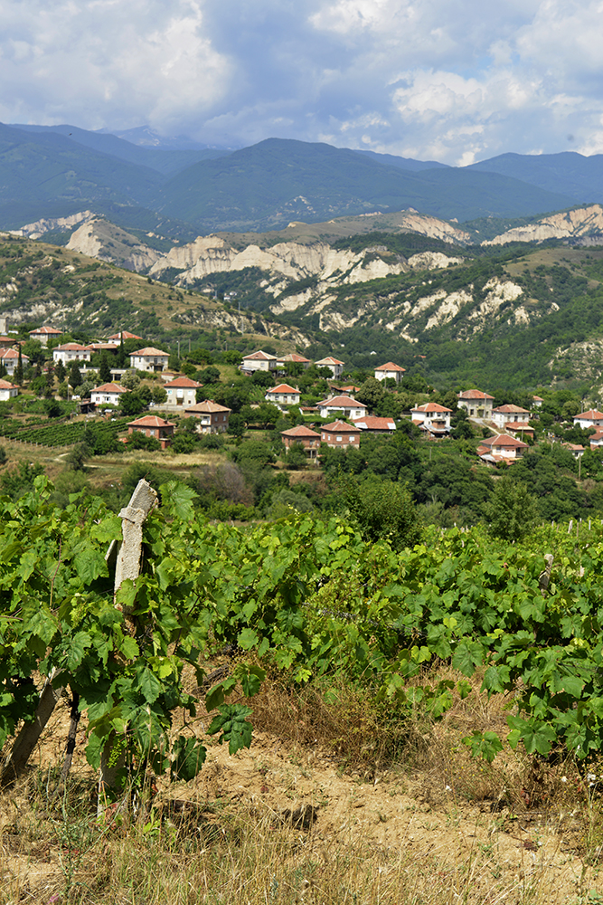 Melnik, Bulgaria, vinranker, landskap, natur