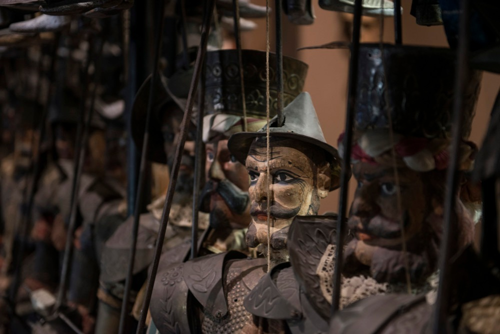 Marionettefigurer, dukketeater, Sicilia