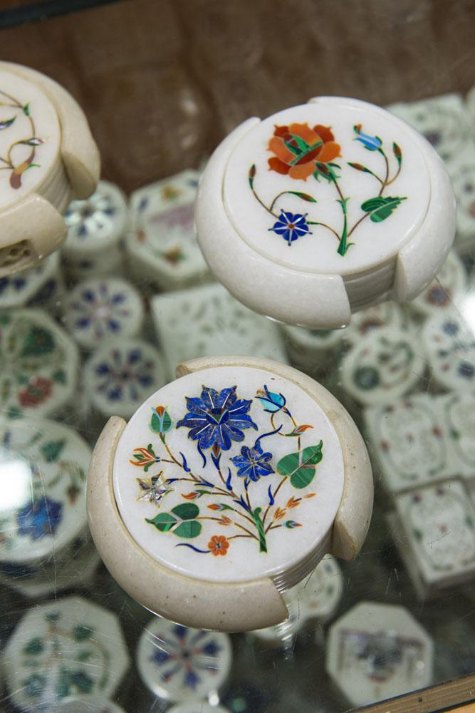 Pietra Dura, suvenir India, Agra, inlay marble