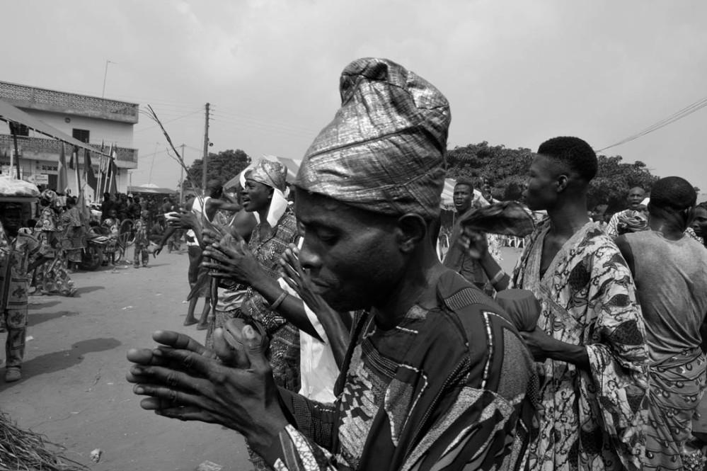Den nasjonale voodoodagen, eller voodoofestivalen i Ouidah.