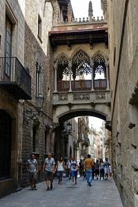 Barrio Gotic eller gamlebyen i Barcelona