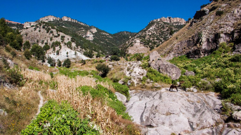 landskap i Mexicos Copper Canyon